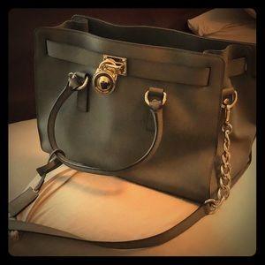Michael Kors Grey Satchel Bag Medium